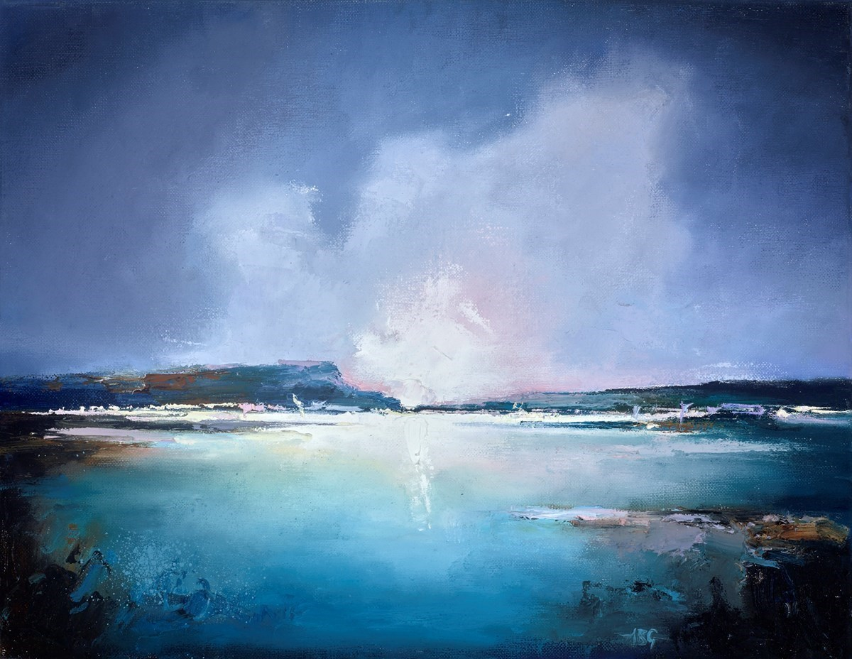 Twilight Sea III by Anna Gammans -  sized 18x14 inches. Available from Whitewall Galleries